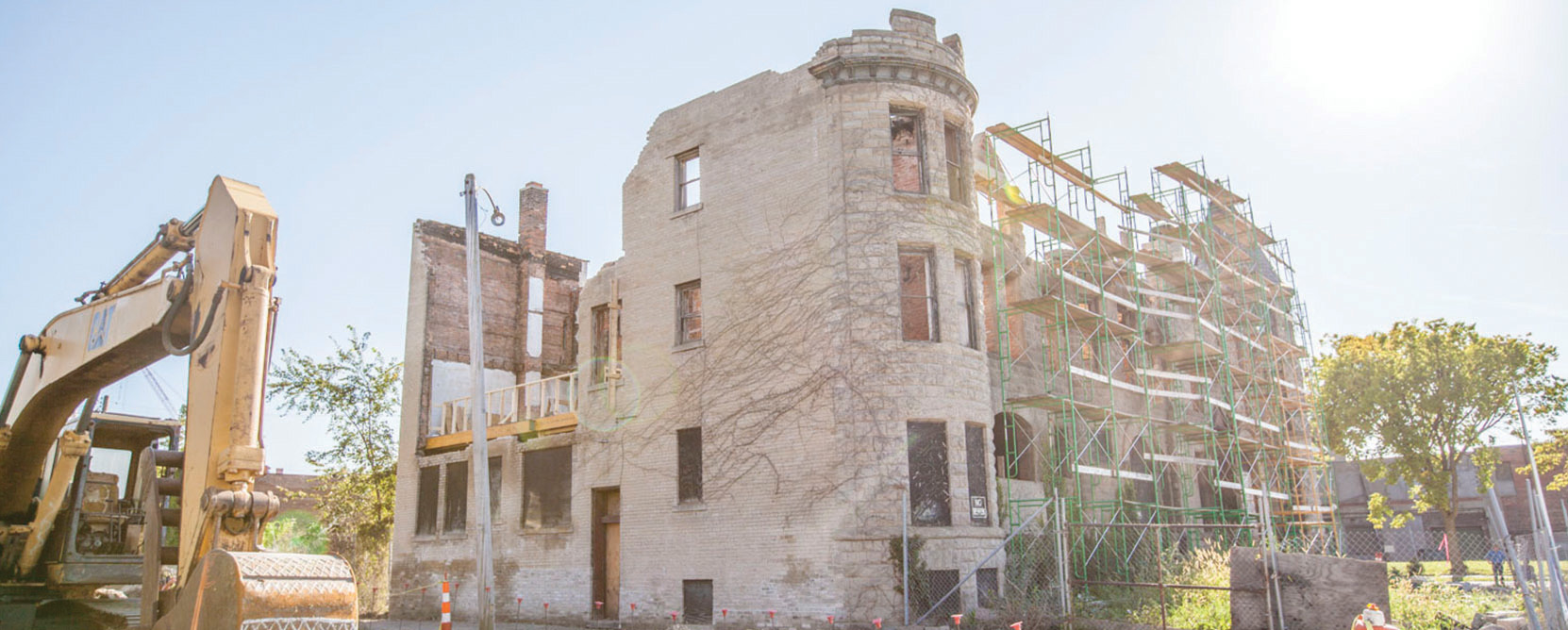 Construction of the James Scott House in Detroit.