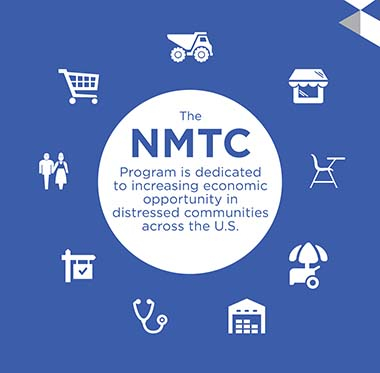 Graphic representing all the sectors in which NMTCs are used