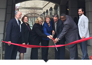 Ribbon cutting for Affordable Housing project