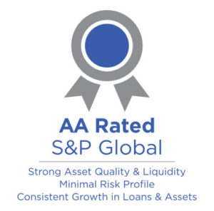 Graphic showing AA S&P Global Rating
