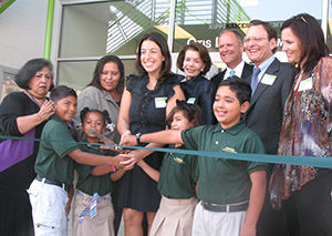 Charter elementary school ribbon cutting.