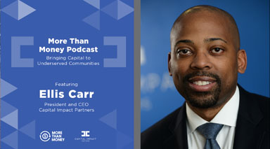 Ellis Carr discusses community development on More Than Money podcast.