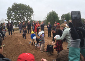 Montessori for All students break ground on new school.