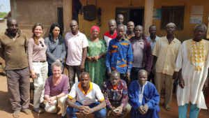 Rosemary with members of a cooperative in Côte d'Ivoire.