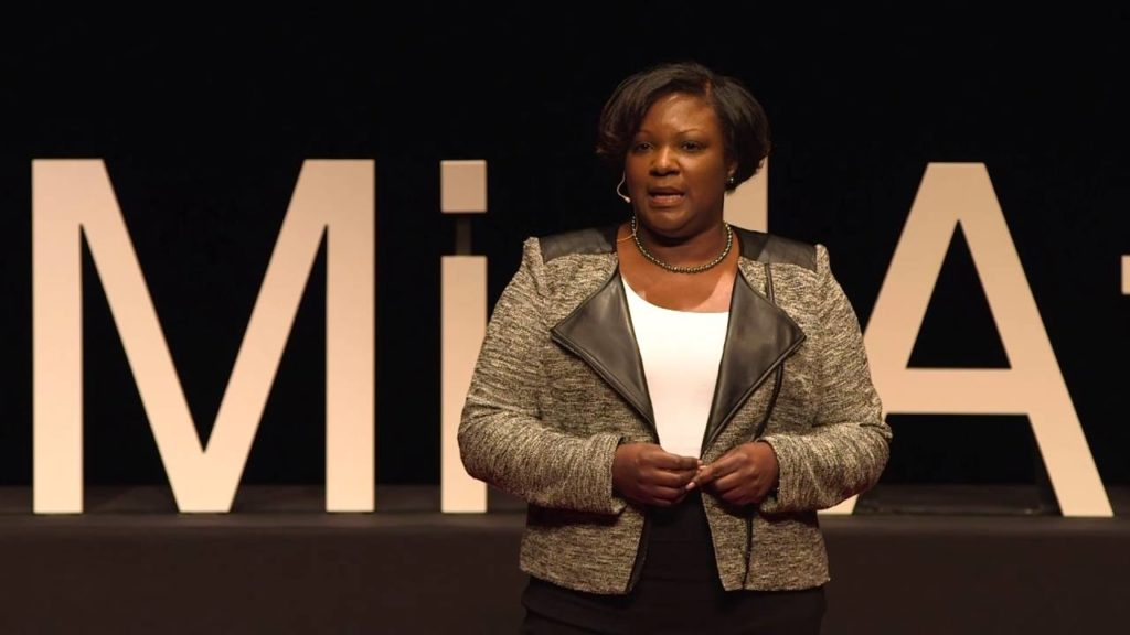 Teresa Hodge giving a TED Talk