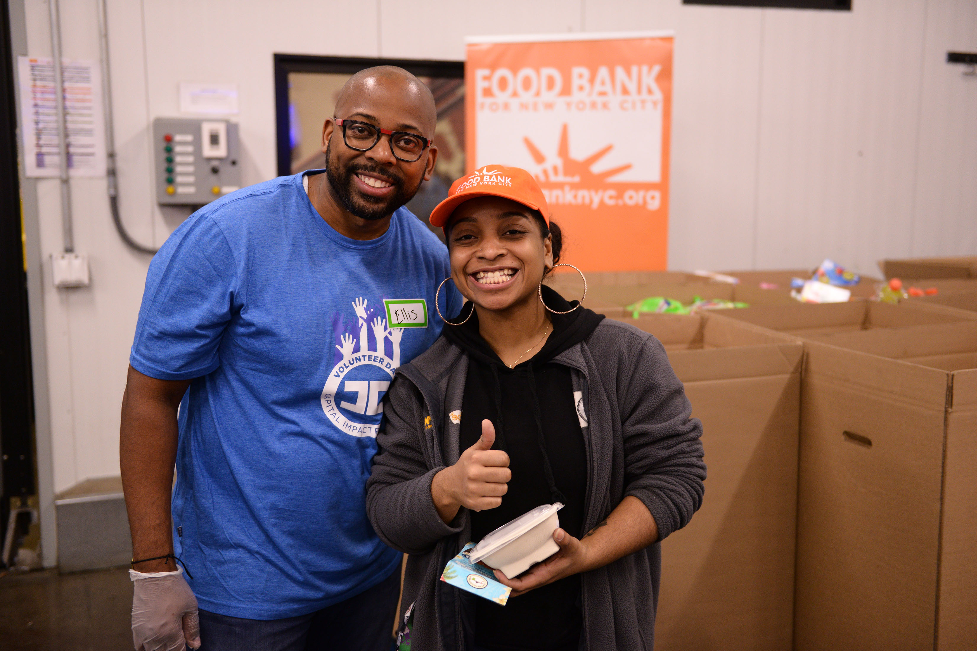 Capital Impact President & CEO Ellis Carr volunteering at the Food Bank of New York