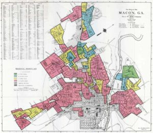 A redlining map of Macon, GA