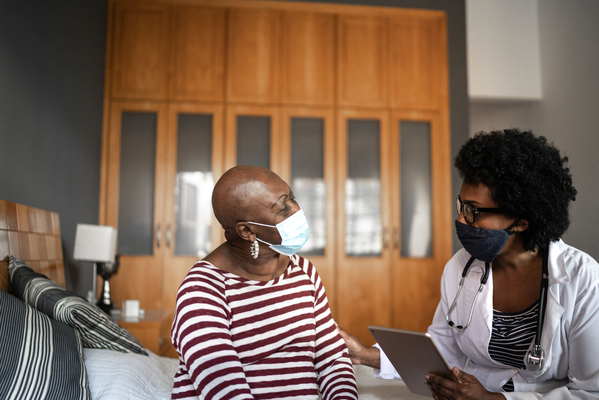 Doctor and woman in consultation