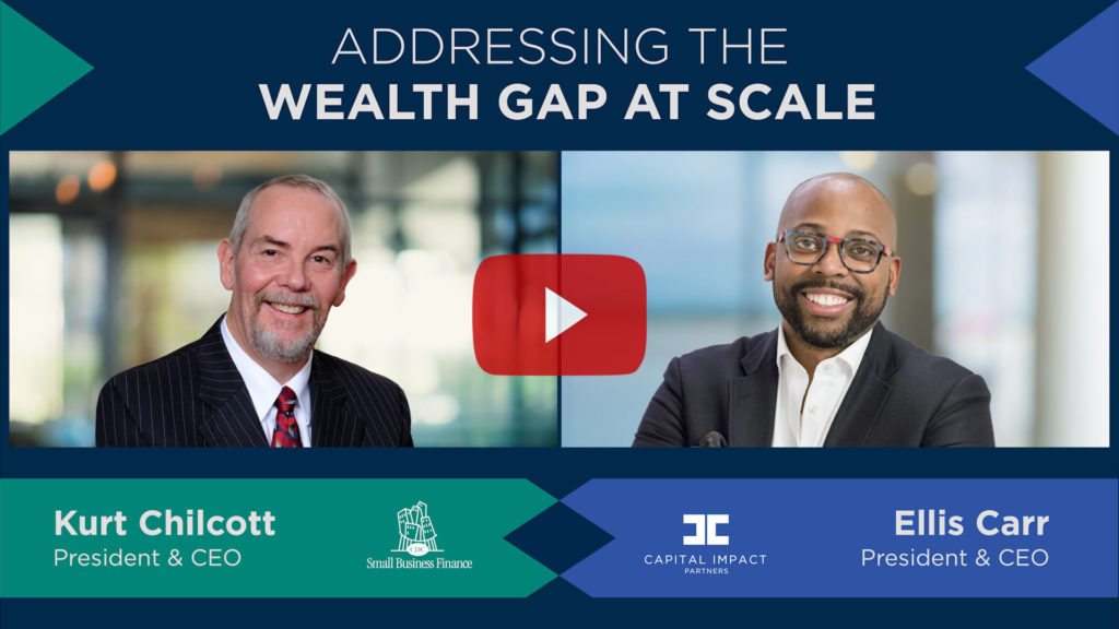 Capital Impact Partners CEO Ellis Carr and CDC Small Business Finance CEO Kurt Chilcott