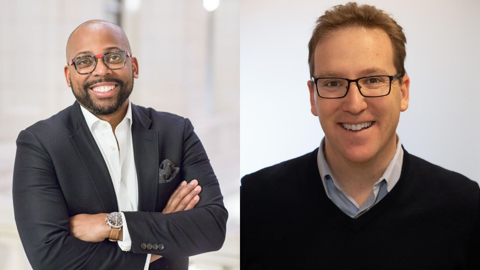 Ellis Carr, Capital Impact Partners and CDC Small Business Finance CEO, and Antony Bugg-Levine, Nonprofit Finance Fund CEO