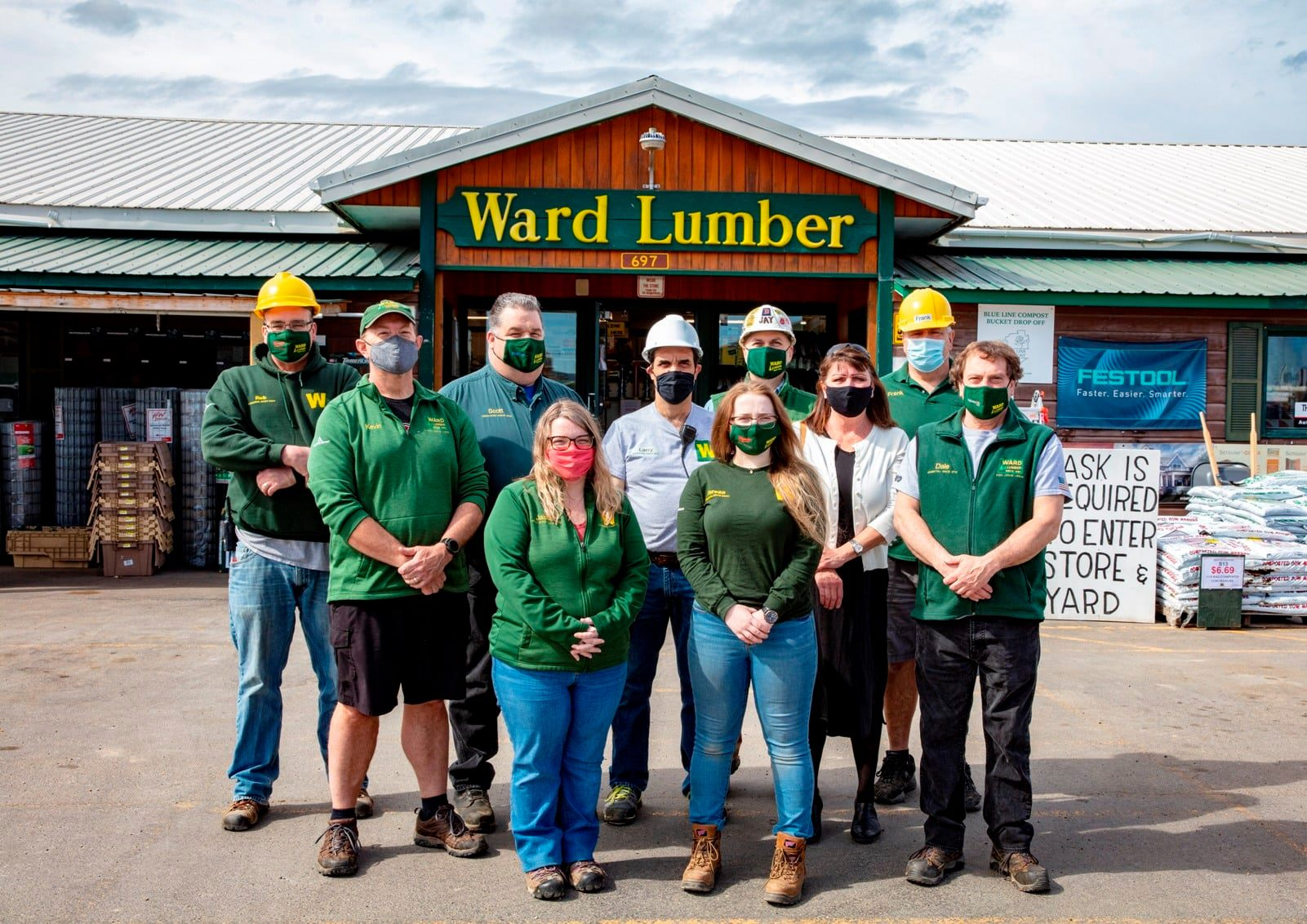The newly minted worker owners of Ward Lumber