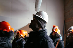 Participant in Equitable Development Initiative tours a buidling