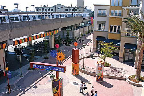 Fruitvale Transit Village's connection to BART