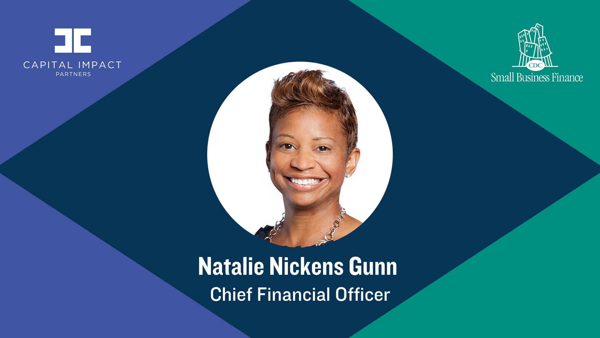 Natalie Gunn, Chief Financial Officer for Capital Impact Partners and CDC Small Business Finance